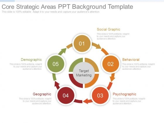 Core Strategic Areas Ppt Background Template