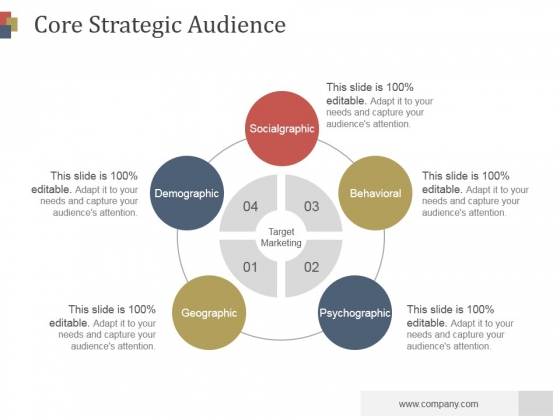 Core Strategic Audience Slide Ppt PowerPoint Presentation Summary