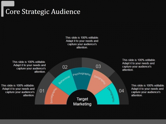 Core Strategic Audience Template 1 Ppt Powerpoint Presentation Outline Show