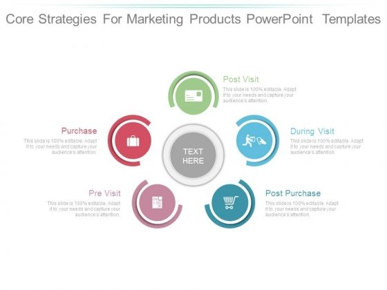 Core Strategies For Marketing Products Powerpoint Templates