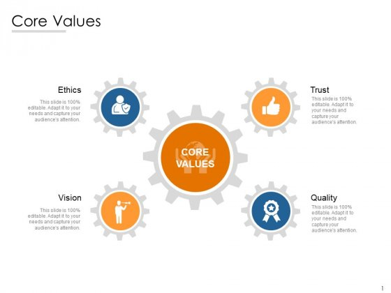 Core Values Ethics Ppt PowerPoint Presentation Ideas Slide Portrait