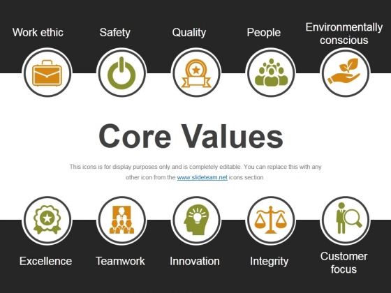 Core Values Ppt PowerPoint Presentation Model Gallery
