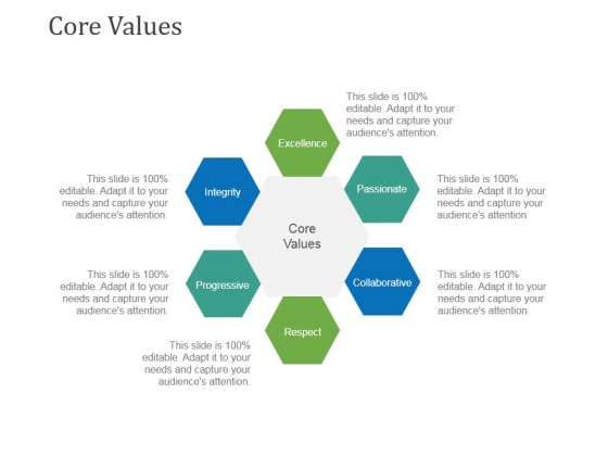 Core Values Template 1 Ppt PowerPoint Presentation Icon File Formats