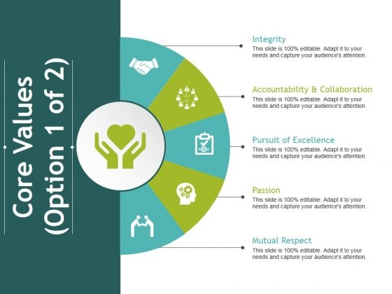 core values template 1 ppt powerpoint presentation infographic