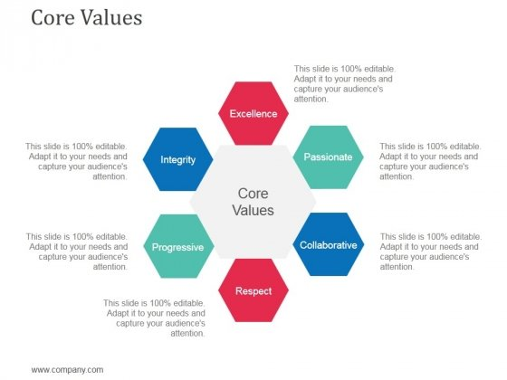 core values powerpoint templates slides and graphics