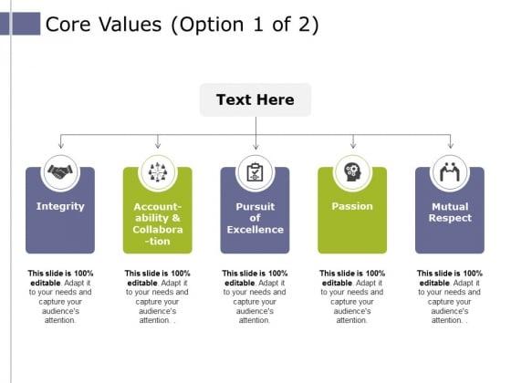 Core Values Template 1 Ppt PowerPoint Presentation Outline Grid