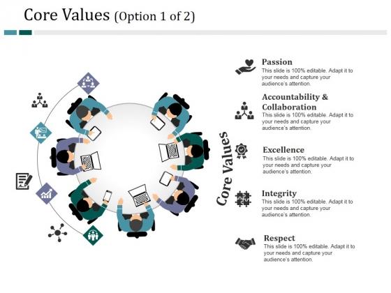 Core Values Template 1 Ppt PowerPoint Presentation Portfolio Design Templates
