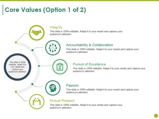 Core Values Template 1 Ppt PowerPoint Presentation Summary Background