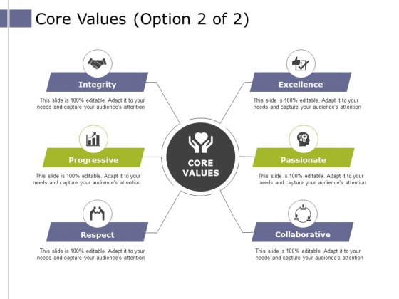 Core Values Template 2 Ppt PowerPoint Presentation Summary Styles