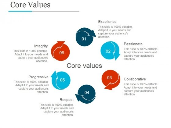 core values template ppt powerpoint presentation background images