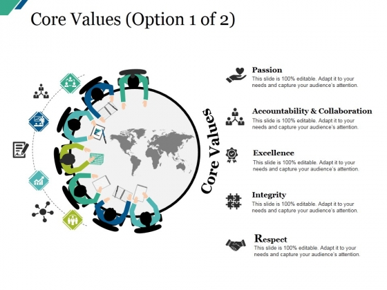 Core Values Template Ppt PowerPoint Presentation Model Design Ideas