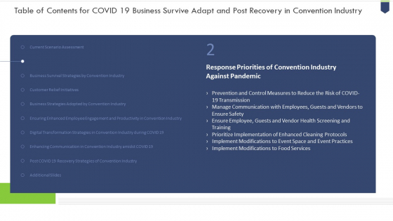 Coronavirus_Organization_Sustain_Adapt_And_Post_Improvement_For_Convention_Sector_Ppt_PowerPoint_Presentation_Complete_Deck_With_Slides_Slide_13
