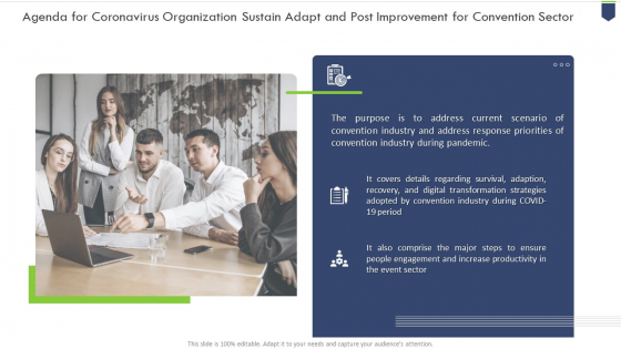 Coronavirus_Organization_Sustain_Adapt_And_Post_Improvement_For_Convention_Sector_Ppt_PowerPoint_Presentation_Complete_Deck_With_Slides_Slide_2
