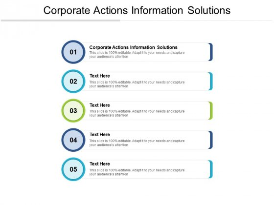 Corporate Actions Information Solutions Ppt PowerPoint Presentation Layouts Cpb