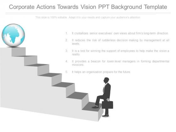 Corporate Actions Towards Vision Ppt Background Template