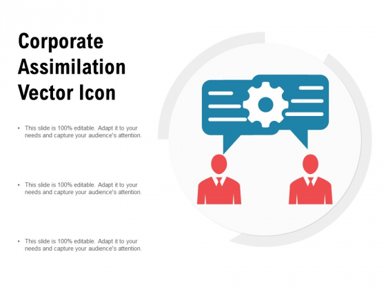 Corporate Assimilation Vector Icon Ppt PowerPoint Presentation Slides Templates PDF