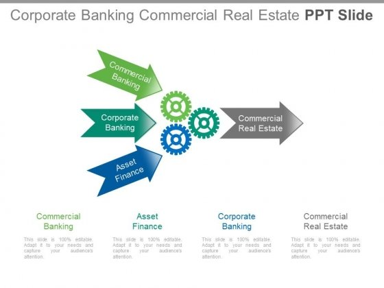 Corporate Banking Commercial Real Estate Ppt Slide