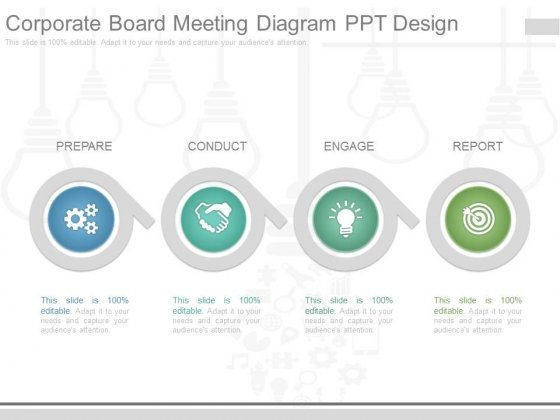 Corporate Board Meeting Diagram Ppt Design