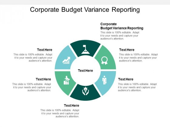 Corporate Budget Variance Reporting Ppt PowerPoint Presentation Icon Images Cpb