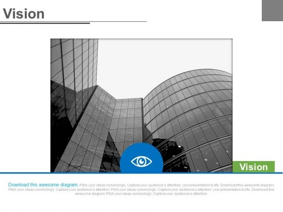 Corporate Building And Eye For Business Future Vision Powerpoint Slides