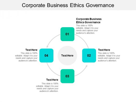 Corporate Business Ethics Governance Ppt PowerPoint Presentation File Master Slide Cpb
