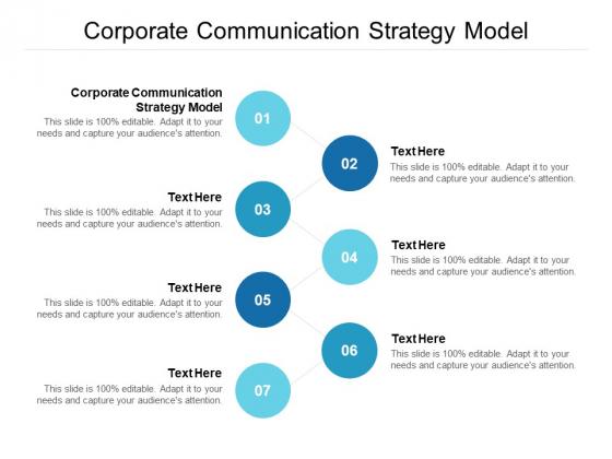 Corporate Communication Strategy Model Ppt PowerPoint Presentation Inspiration Portfolio Cpb