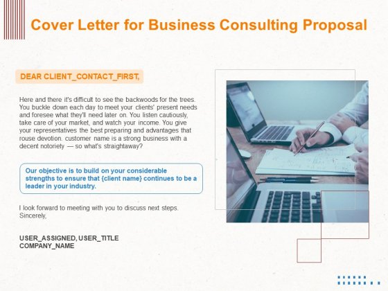 Corporate Consulting Cover Letter For Business Consulting Proposal Ppt File Visual Aids PDF