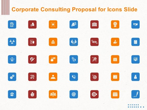 Corporate Consulting Proposal For Icons Slide Ppt Gallery Topics PDF