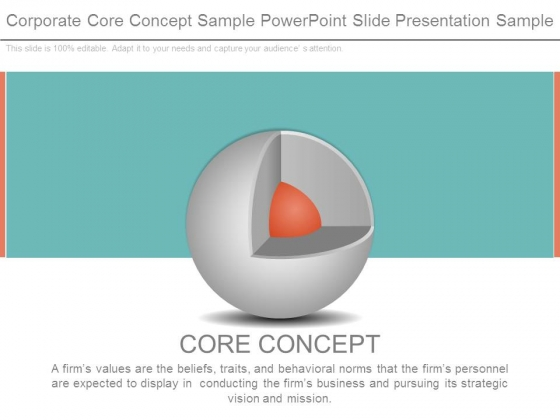 Corporate Core Concept Sample Powerpoint Slide Presentation Sample