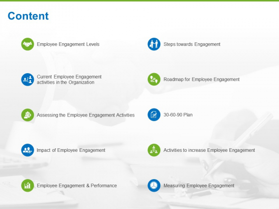 Corporate Employee Engagement Content Ppt Professional Backgrounds PDF
