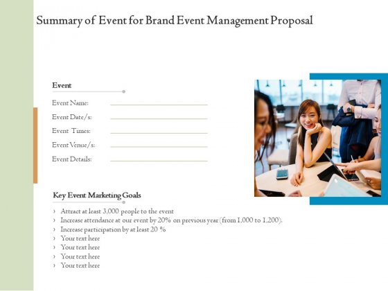 Corporate_Event_Planning_Management_Summary_Of_Event_For_Brand_Event_Management_Proposal_Graphics_PDF_Slide_1