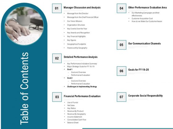 Corporate Execution And Financial Liability Report Table Of Contents Diagrams PDF
