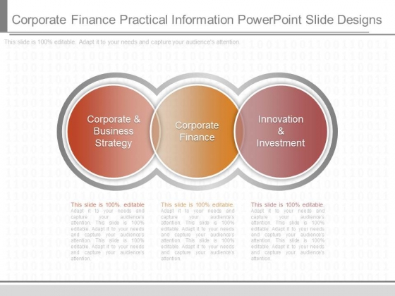 Corporate Finance Practical Information Powerpoint Slide Designs