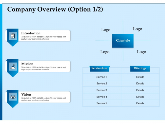 Corporate Fundraising Ideas And Strategies Company Overview Ppt Inspiration Template PDF
