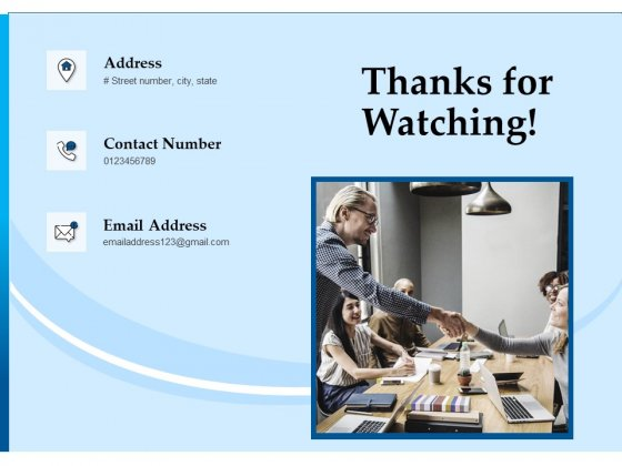 Corporate Fundraising Ideas And Strategies Thanks For Watching Ppt Styles Graphics Pictures PDF