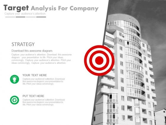 Corporate Goals And Strategy Analysis Powerpoint Slides