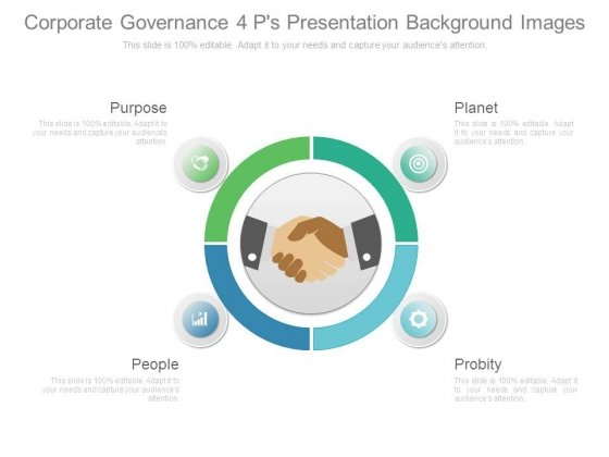 Corporate Governance 4 Ps Presentation Background Images