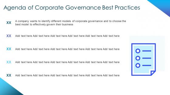 Corporate_Governance_Best_Practices_Agenda_Of_Corporate_Governance_Best_Practices_Diagrams_PDF_Slide_1