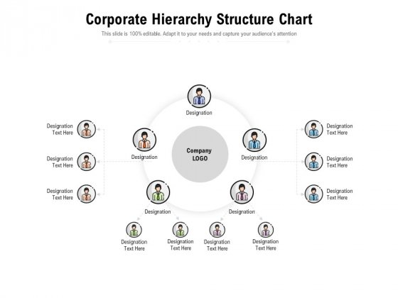 Corporate Hierarchy Structure Chart Ppt PowerPoint Presentation Infographic Template Skills