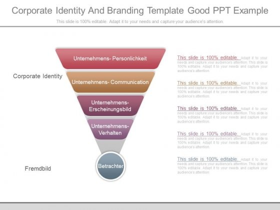Corporate Identity And Branding Template Good Ppt Example