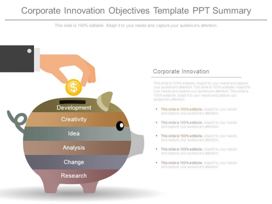 Corporate Innovation Objectives Template Ppt Summary