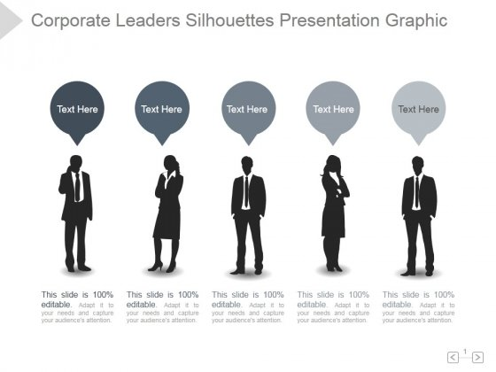Corporate Leaders Silhouettes Ppt PowerPoint Presentation Slide