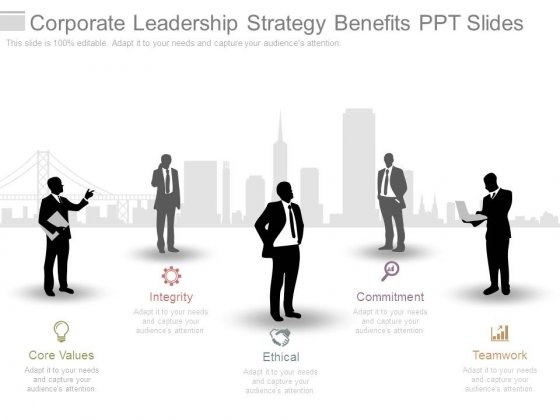 Corporate Leadership Strategy Benefits Ppt Slides