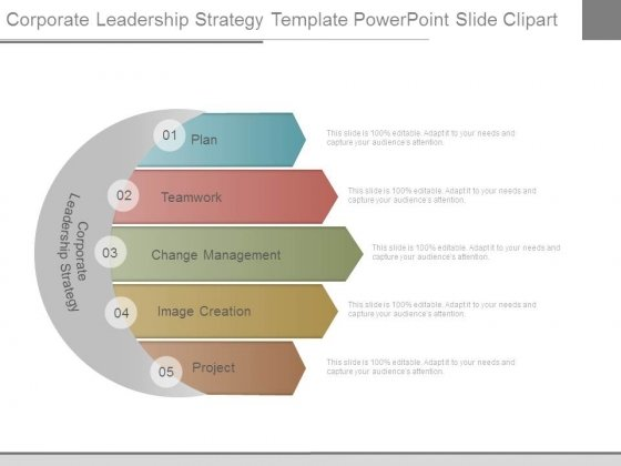 corporate leadership strategy template powerpoint slide clipart, Modern powerpoint