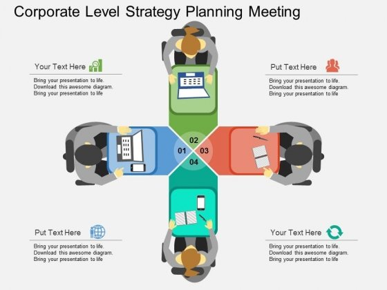 Corporate Level Strategy Planning Meeting Powerpoint Template