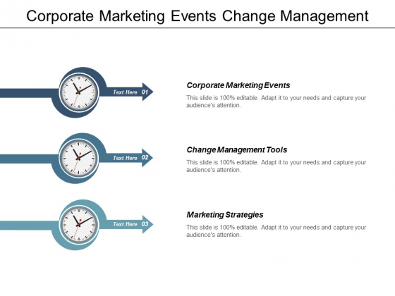 Corporate Marketing Events Change Management Tools Marketing Strategies Ppt PowerPoint Presentation Outline Graphics Template