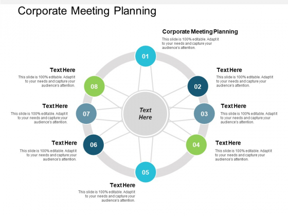 Corporate Meeting Planning Ppt Powerpoint Presentation Professional Summary Cpb