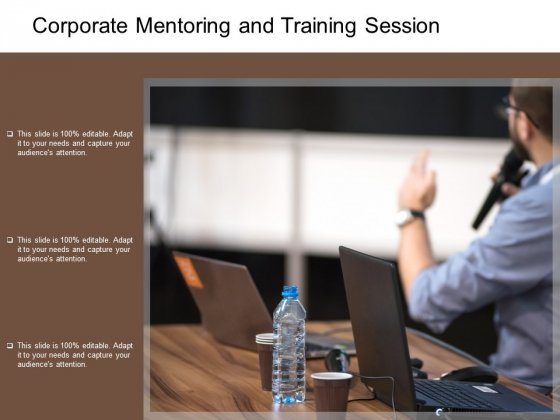Corporate Mentoring And Training Session Ppt PowerPoint Presentation Inspiration Backgrounds