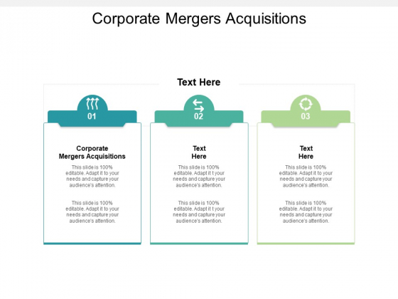 Corporate Mergers Acquisitions Ppt PowerPoint Presentation Slides Smartart Cpb