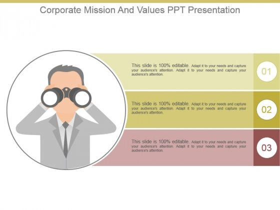 Corporate Mission And Values Ppt Presentation